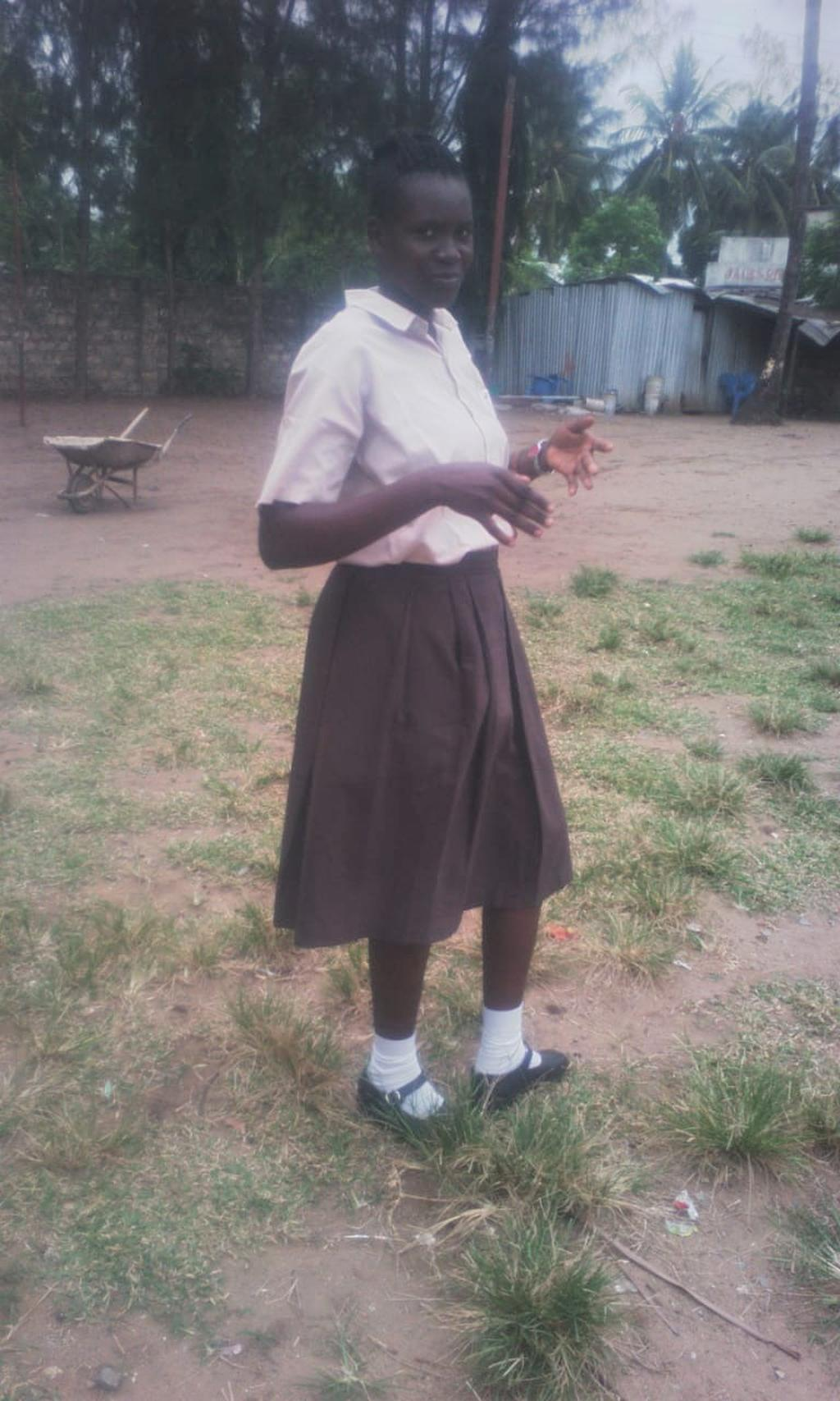 Cynthia recieved a schoolarship from Polio and Children in Need