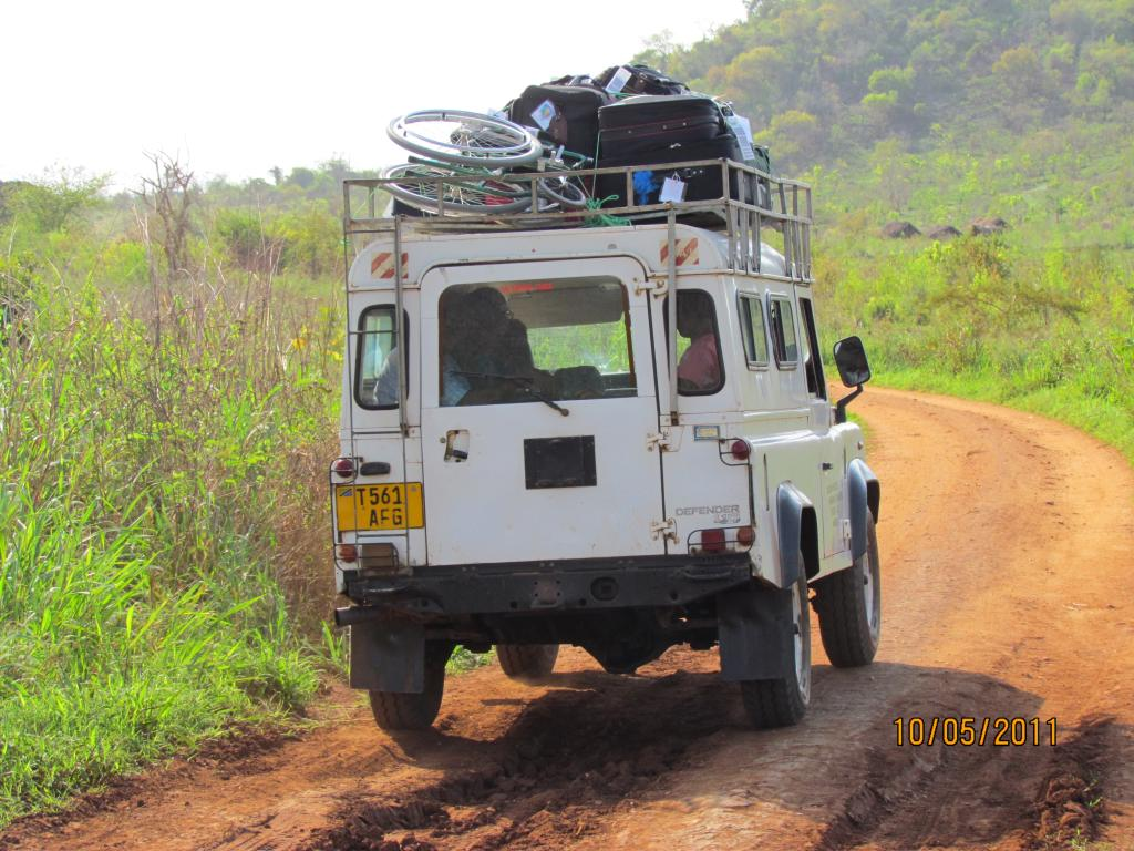 Landrover on dirt road
