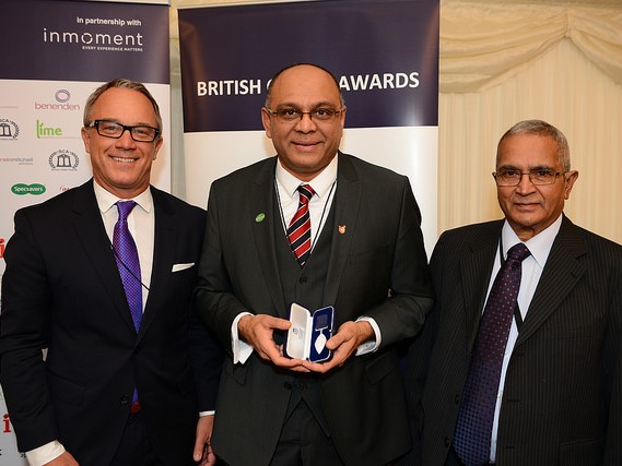 Mayoor - British Citizen's Award with Lord Dholakia (R)