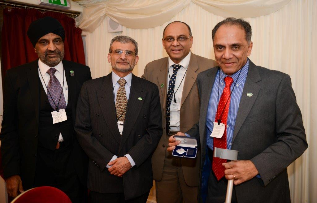 Polio and Children In Need Charity Co-founder Arun Patel and Trustees at the British Citizen's Award