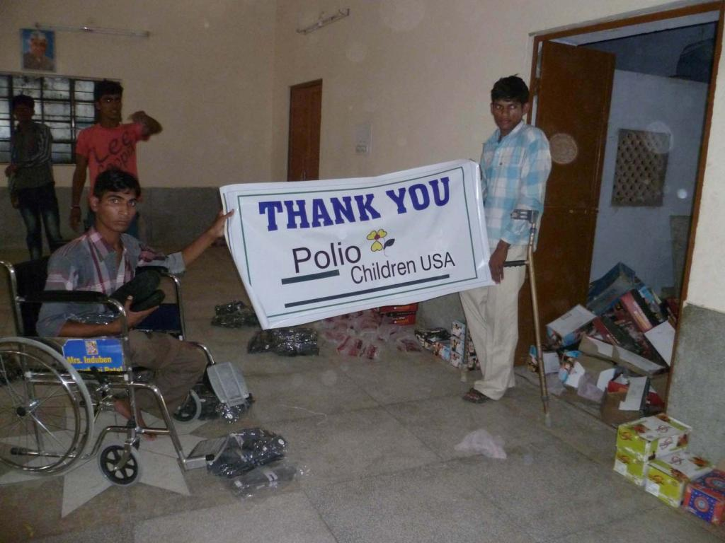 Appreciating donations of wheelchairs and other mobility aids.