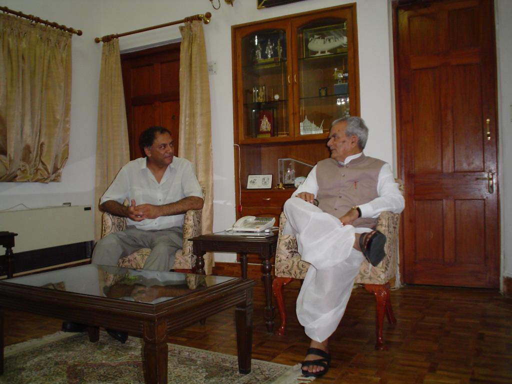 Polio and Children In Need Charity Co-founder Arun Patel with Hon. Bhairon Singh Shekhawat, Former Vice-President of India (2002-07)