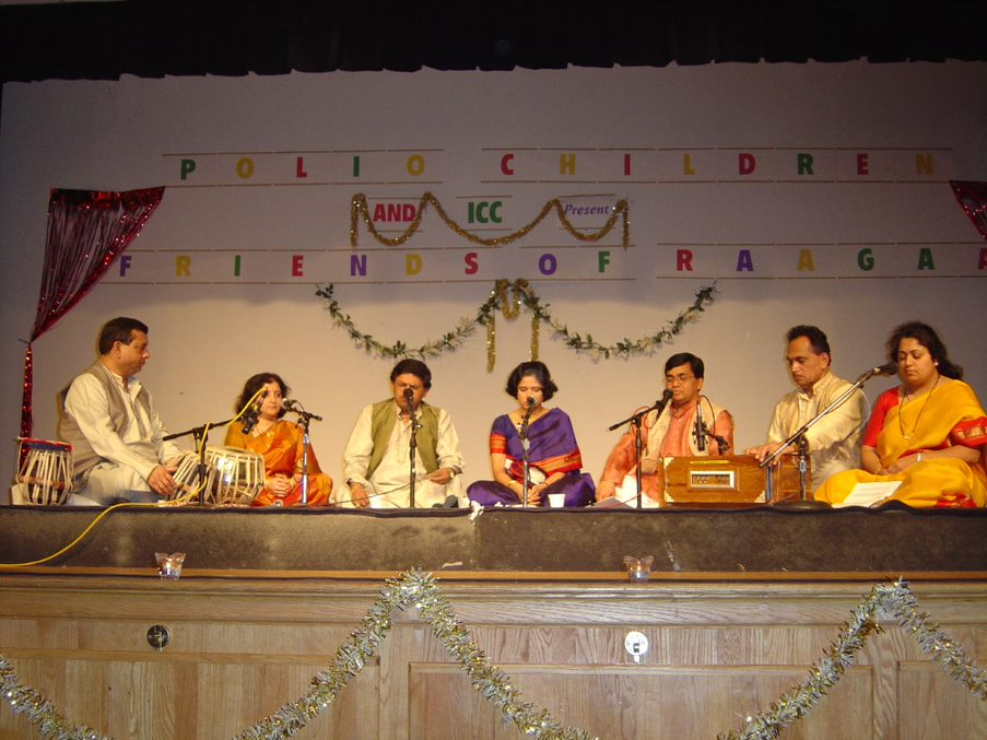 Friends of Raaga performing at a fundraising event in Rochester, NY.