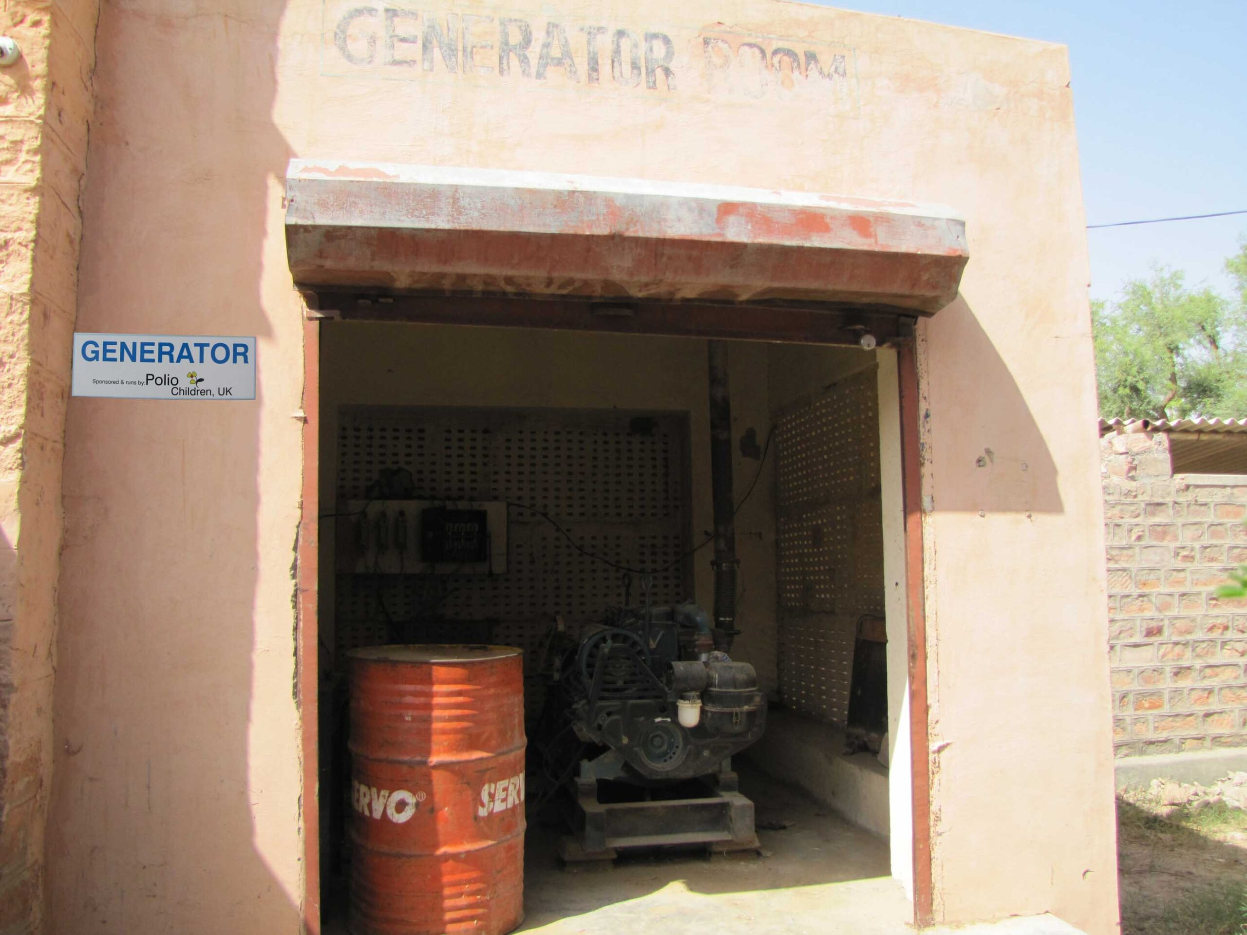 Power generator installed to enable the children to study at night