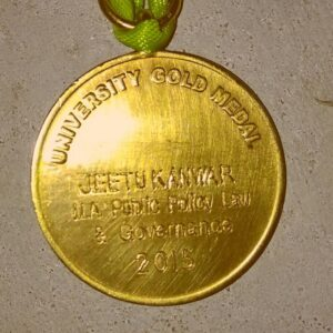 Gold Medal presented to  Jeetu