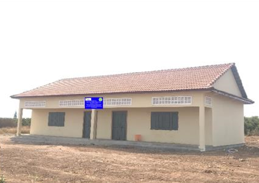 Siem Reap - Newly built classrooms at Oorong Secondary School