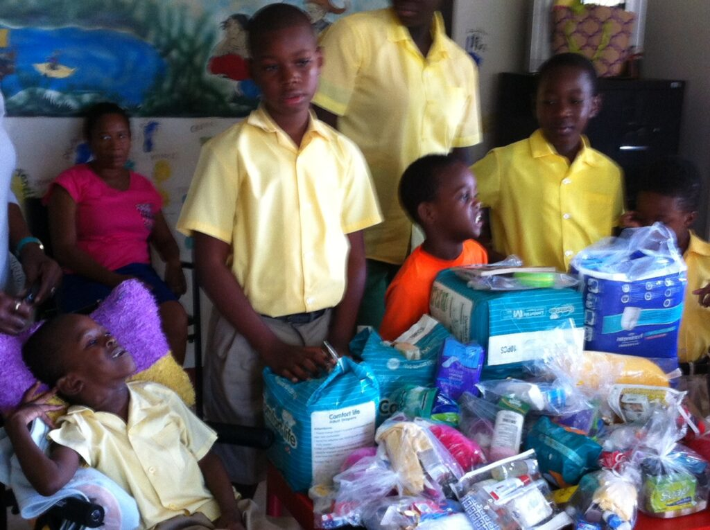 St Vincent - Care packages gifted to handicapped children