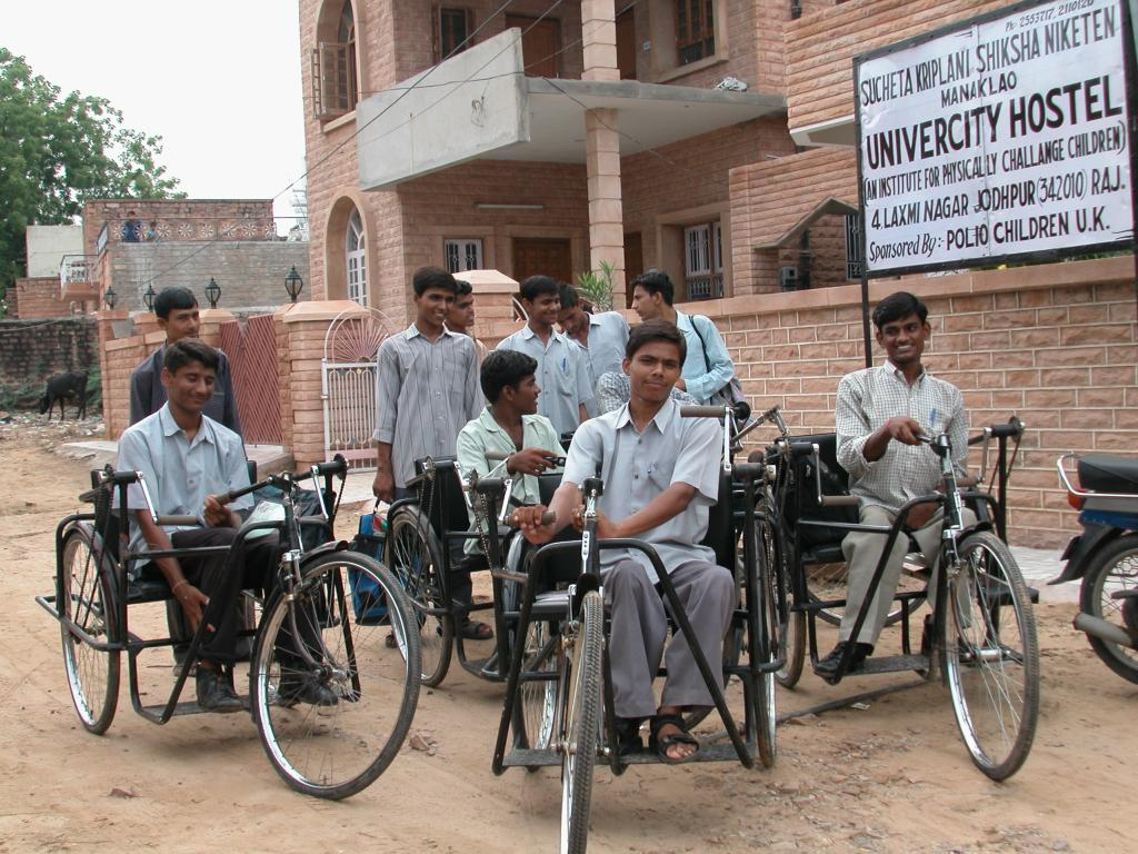 University Education Fund - The premier batch of students on their way to college. Many in the subsequent batches were fortunate enough to receive motor scooters.
