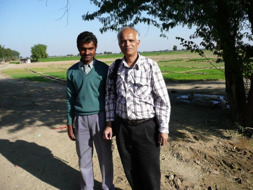 With Bhagirath background carrot farm