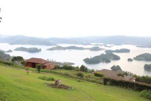 The stunning Lake Bunyoni a short way from KOCC