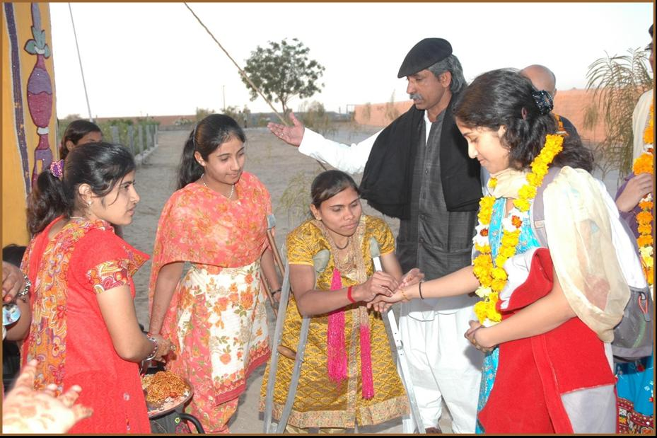 Being welcomed to Kashish